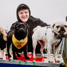 Chart-toppingSomeone You Loved singer-songwriter Lewis Capaldi with some four-legged fans at Standon Calling 2019