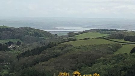 View across the Taw estuary from Spreacombe Hill, North Devon.