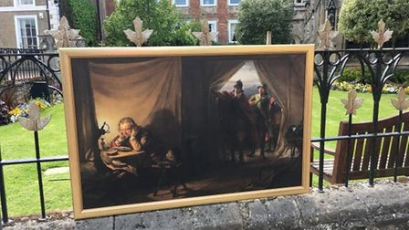 One of the replicas of artwork at All Saints Church on Huntingdon Market Square.