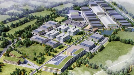 A schematic CGI of the proposed Hertswood Studios film and TV studios