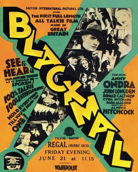 The poster that helped to entice cinema-goers into the dark to watch Alfred Hitchcock's ground-break
