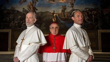 The New Pope Sky series withJohn Malkovich, Silvio Orlando and Jude Law.