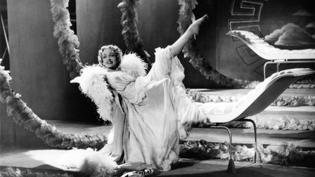 Marlene Dietrich in Stage Fright, 1950, directed by Alfred Hitchcock at Elstree Studios