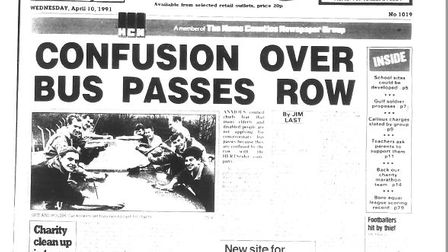 Bus front page 1991