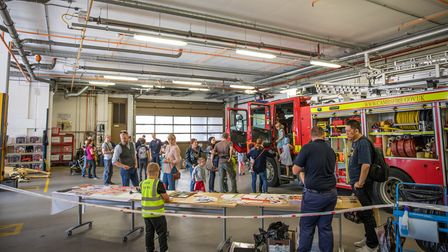 A fire station open day in 2018 as part of Open Cambridge.