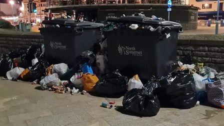 Bank Holiday: North Somerset Council to triple wheelie bin numbers after 11 tonnes of litter left on beach