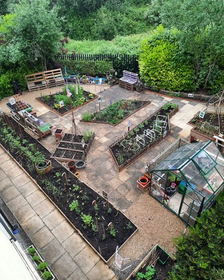 The garden at Harbour Residential Care Centre.