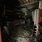 Fire damage inside Cex on King Street, which caught fire on Thursday, June 3.
