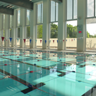 One of several pools at the newly completed Britannia Leisure Centre in Hackney.