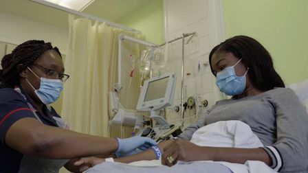 Bola Receives an Exchange Blood Transfusions