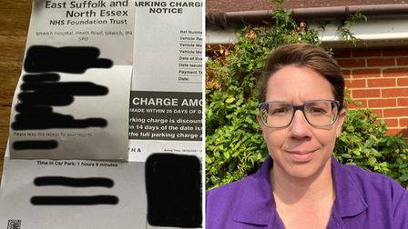 Kelly Weston was fined twice by Ipswich Hospital when she claims she was using the parking system correctly.