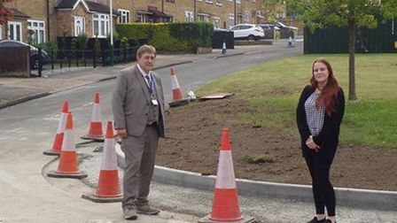a fixed corner of the wrexham road junction in romford has been fixed.