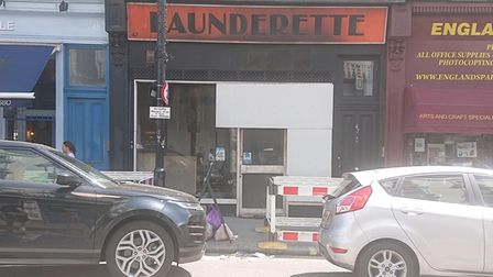 The England's Lane Launderette after being damaged by a fire