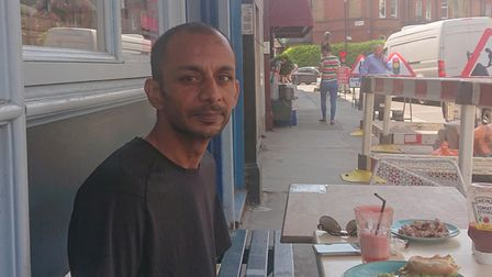 Ashish Raja, who helped when the England's Lane Launderette caught fire