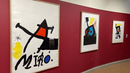 An intimate retrospective of the work ofJoan Miró is being exhibited at Newlands House in Petworth