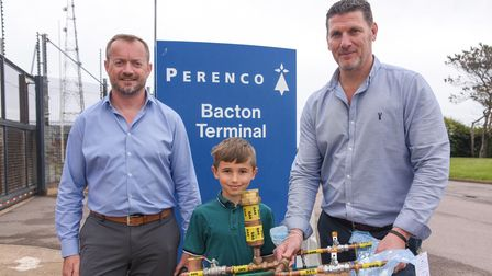 Tommy Beckett, an 8-year-old aspiring engineer who got a tour of Perenco Bacton Gas Ternimal after b