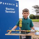 Tommy Beckett, an 8-year-old aspiring engineer, who got a tour of Perenco Bacton Gas Ternimal after