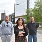 Residents in St Francis Tower in Ipswich are outragedafter the entire building has been wrapped in plastic