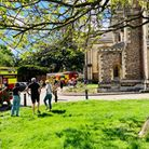 Fire crew attend St Albans Cathedral