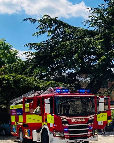 Fire crew were called to St Albans Cathedral today after the alarm was raised.