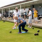 Action from Nailsea Bowls Club's open day