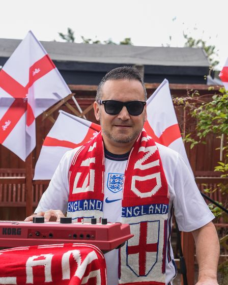 Norwich taxi driver Shane Hill who has written an anthem for Englad at the Euros. Picture: Danielle