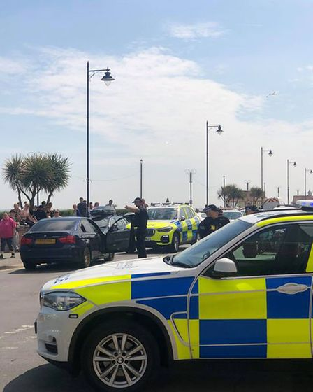 Police arrested a man on Felixstowe seafront
