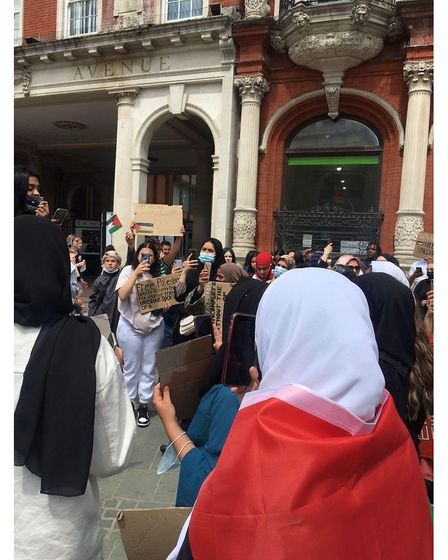 The protest grew momentum when it moved on to the Cornhill in Ipswich town centre