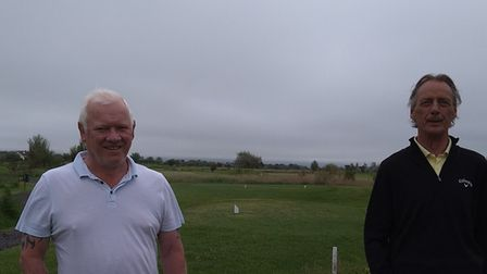 Neil Barker (left) and Kevin Davies (right) were the leading duo at Brean's Saturday Stableford