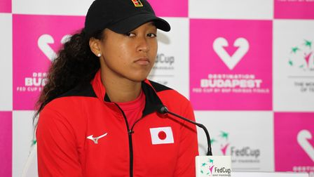CARTAGENA, SPAIN - FEBRUARY 07: Naomi Osaka of Japan attends during the press conference after losin