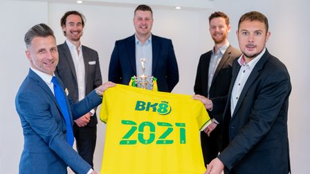 Behind the scenes from the BK8 main sponsorship announcement at Norwich City, Carrow Road.