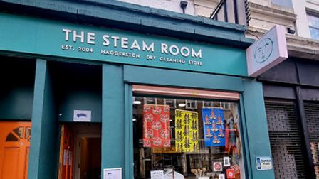 The Steamroom dry cleaners isshowcasing multicultural art by Scottish-Chinese artist Sarah Kwan.