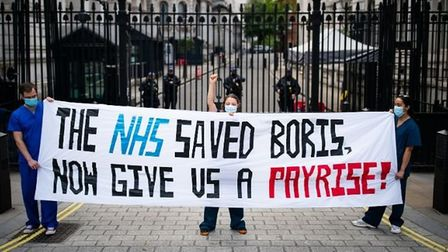 Despite protesting last year, NHS nurses only received a one per cent pay rise