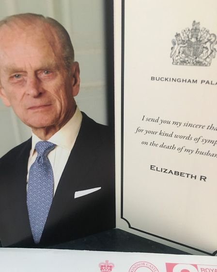 a thank you card from Buckingham Palace.