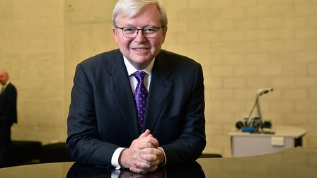 Andrew Adonis has interviewed Kevin Rudd, former Prime Minister of Australia. Photo by Michael Maste