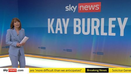 Presenter Kay Burley has returned to work after being suspended for six months for breaking Covid-19 rules