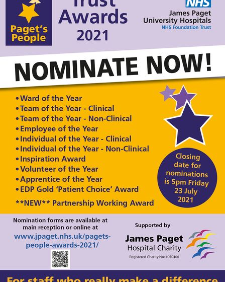 Paget's People Awards 2021