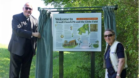 The Orwell Clunch Pit and Glebe Field SSSI sign