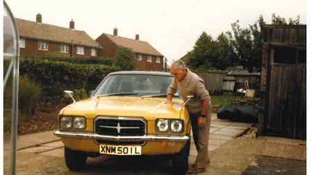 Frank Cox with his pride and joy: a brand new Vauxhall VX490.