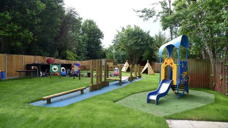 Claydon pre-school now have a new play area Picture: CHARLOTTE BOND