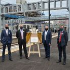 The plaque unveiling at London King's Crossfollowing the completion of an upgrade at the station.