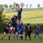 Ollie Bartlett collects a line-out for St Ives
