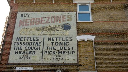 """Third place went to Buy Meggezones For Coughs, Colds & Catarrh Nettle's """"Tussodyne"""" sign."""