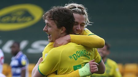 Kieran Dowell of Norwich celebrates scoring his sides 2nd goal during the Sky Bet Championship match