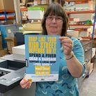 Hot off the press: Jane Rockett of Axminster Printing with a new Fiver Fest poster