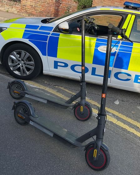 E-scooters stopped in Wisbech