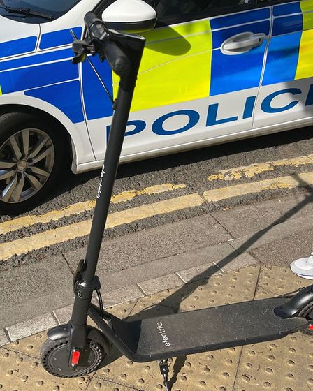 E-scooter stopped in Wisbech