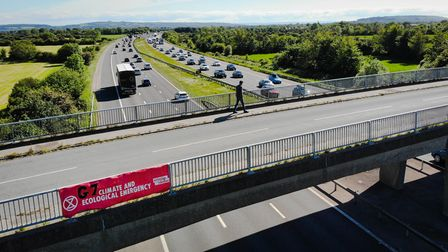 G7 Summit: Climate change protests in South West.