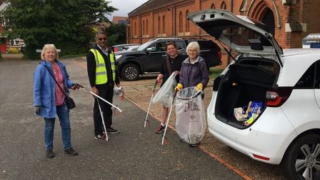 Ipswich litter team including Elizabeth, Margaret andRebeccacleaned up Roundwood and California areas ahead of Suffolk Day