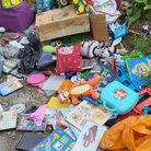 Flytipped rubbish in Wisbech St Mary